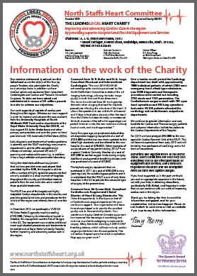 North Staffs Heart Committee Newsletter